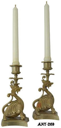Vintage-Pair-of-Unusual-Dragon-Candlesticks-(ANT-269)
