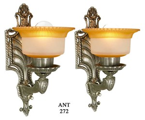 Lovely pair of Circa 1920 wall sconces (ANT-272)