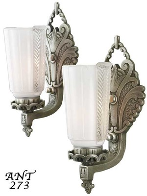Lovely pair of Circa 1920 wall sconces (ANT-273)