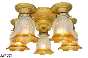 Turn of the Century Art Deco Chandelier (ANT-276)