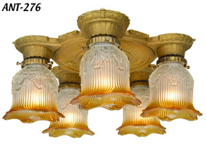 Turn-of-the-Century-Art-Deco-Chandelier-(ANT-276)