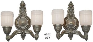 Lovely-Pair-of-Double-Wall-Sconces-Circa-1920-(ANT-277)