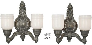 Lovely Pair of Double Wall Sconces, Circa 1920 (ANT-277)