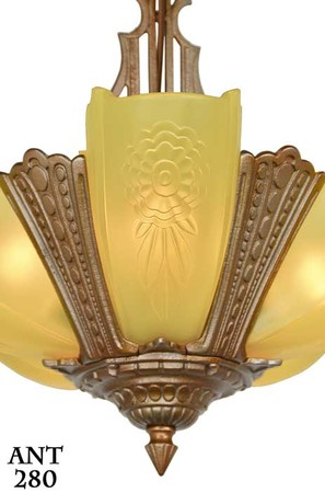 American-Art-Deco-5-light-chandelier-by-Puritan-(ANT-280)