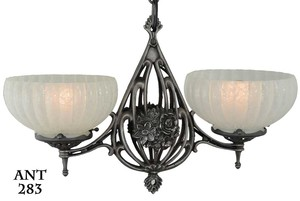 Art-Nouveau/Deco-American-2-light-Pendant-(ANT-283)