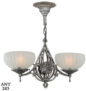 Art Nouveau/Deco American 2 light Pendant  (ANT-283)