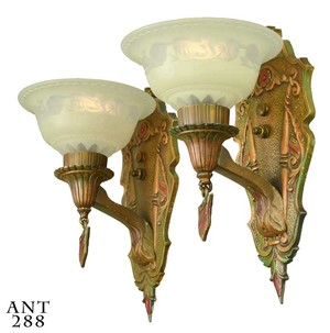 American Pair of Art Deco sconces (ANT-288)