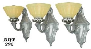 1920s Art Deco Sconces - set of three (ANT-291)