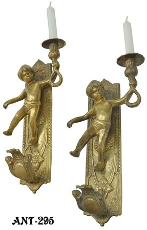 French-Cherub-Candle-Wall-Sconces-(ANT-295)
