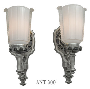 Antique-1920s-Lovely-Pair-of-Edwardian-Wall-Sconces-(ANT-300)