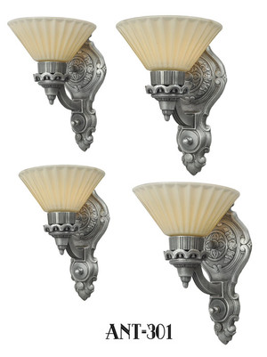 Art Deco Style Antique Wall Sconces...Set of Four (ANT-301)