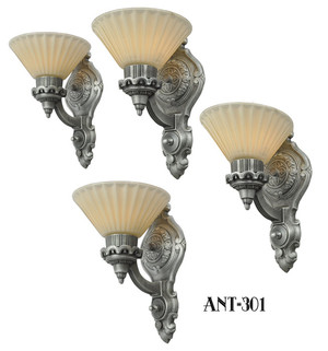 Art-Deco-Style-Antique-Wall-Sconces...Set-of-Four-(ANT-301)
