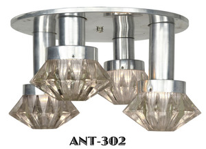 Mid Century Modern French Semi Flush Mount Chandelier Ceiling Light (ANT-302)