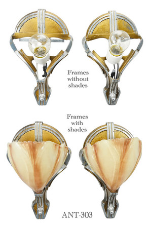 Art-Deco-Slip-Shade-pair-of-Clam-Shell-Sconces-(ANT-303)