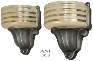 American Art Deco STREAMLINE Sconces by Virden (ANT-305)