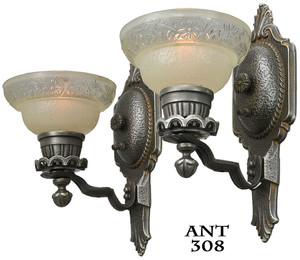 Art Deco Pair of Wall Sconces (ANT-308)