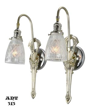 Edwardian-French-Art-Nouveau-Sconces-(ANT-313)