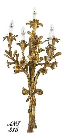 Neo-Rococo French candelabrum sconce (ANT-315)