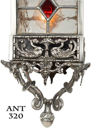 Victorian-Antique-Stained-and-Leaded-Glass-Hall-Lantern-Light-Fixture-(ANT-320)