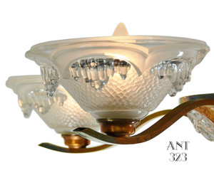 Art-Deco-Copper-Finished-French-Ezan-Chandelier-(ANT-323)