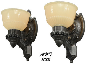 American Pair of Art Deco Sconces Circa 1920 - 1930 (ANT-325)
