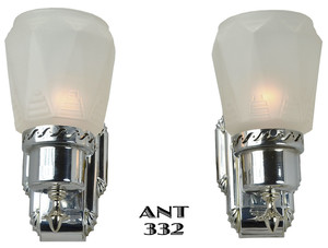 Pair of Antique Art Deco Streamline Sconces (ANT-332)