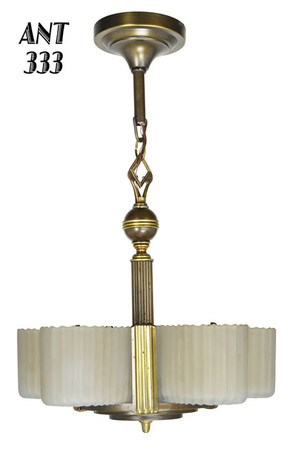 Art Deco Streamline Markel Five Light Chandelier (ANT-333)