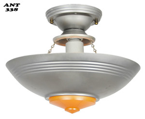 Art Deco Streamline Single Light Pendant (ANT-338)