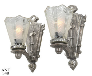 Art Deco, with Gothic Motif, Mixed Design Sconces (ANT-348)
