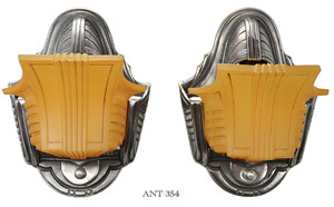 Art Deco Slip Shade Pair of Wall Sconces (ANT-354)