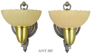 Late Art Deco Pair of Sconces Circa 1938 (ANT-357)