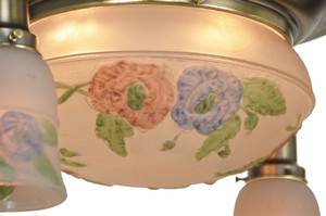 Edwardian-Ceiling-Bowl-Light-with-Puffy-Style-Shades-(ANT-359)