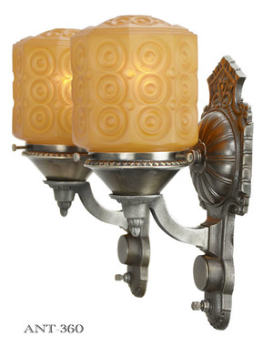 Art Deco - Great Pair of 1920 Wall Sconces (ANT-360)