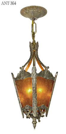 Arts-and-Crafts-Style-Antique-Mica-Panel-Hall-Lantern-Pendant-Light-(ANT-364)
