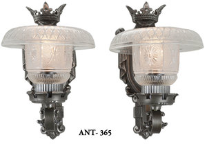 Art Deco Edwardian style pair of nice wall sconces (ANT-365)