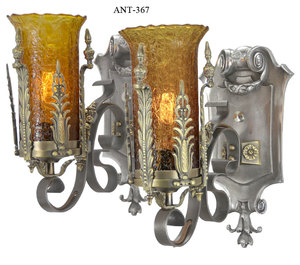 Art Deco - Lovely pair of 1920-30 Art Deco Wall Sconces(ANT-367)