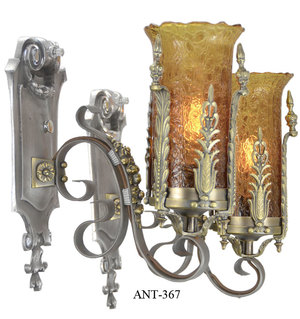 Art-Deco---Lovely-pair-of-1920-30-Art-Deco-Wall-Sconces(ANT-367)