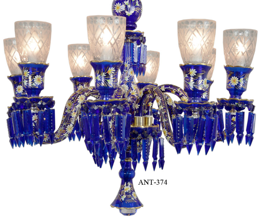Vintage hardware lighting antique 8 light chandelier cobalt blue vintage hardware lighting antique 8 light chandelier cobalt blue bohemian glass and crystals ant 374 aloadofball Image collections