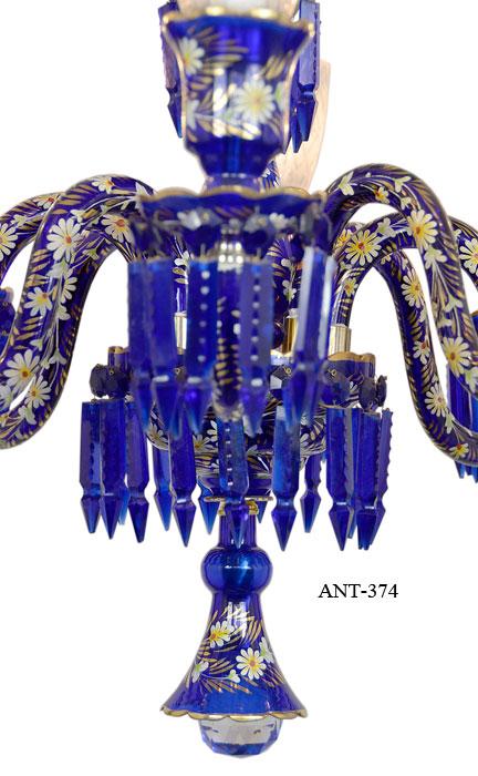 Vintage hardware lighting antique 8 light chandelier cobalt blue description aloadofball Choice Image