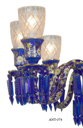 Antique-8-Light-Chandelier-Cobalt-Blue-Bohemian-Glass-and-Crystals-(ANT-374)