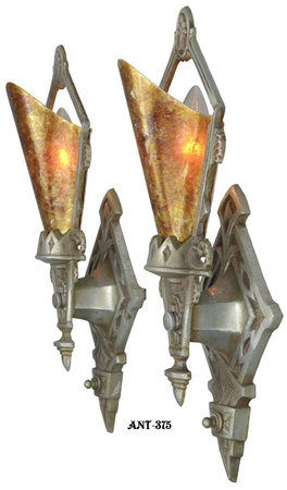Pair-of-Antique-Restored-Art-Deco-Wall-Sconces-(ANT-375)