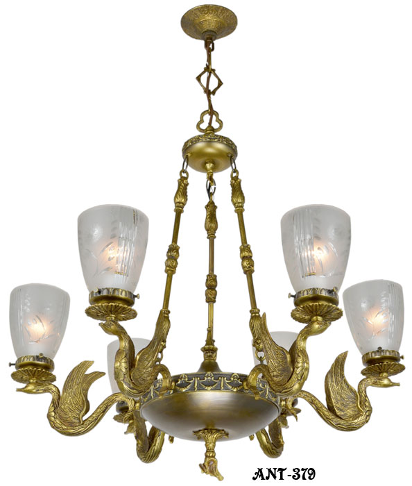 alternate view 0 ... - Vintage Hardware & Lighting - Antique Vintage Neo-Rococo French Swan