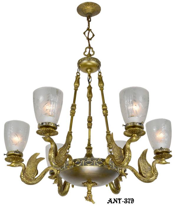 - ANT-379__Antique_victorian_swan_motif_brass_chandelier_1.jpg