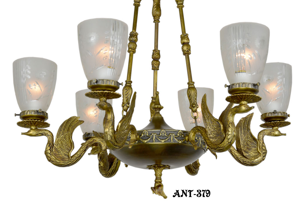 ANT-379__Antique_victorian_swan_motif_brass_chandelier_2.jpg - Product Detail Page