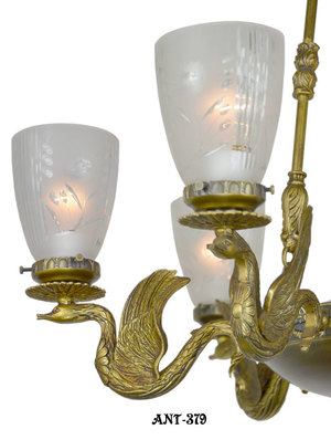 Antique-Vintage-Neo-Rococo-French-Swan-Motif-Victorian-Chandelier-(ANT-379)
