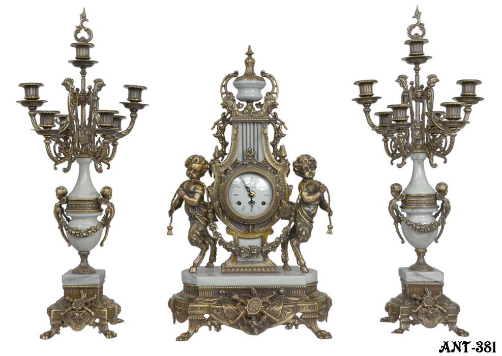 ITALIAN reproduction ornate candelabra beautiful match with clock