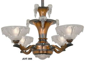 Art-Deco---Copper-Finished-French-Ezan-chandelier-(ANT-388)