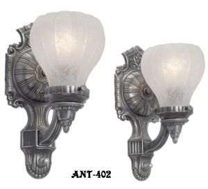 Edwardian Style Pair of Nice Wall Sconces (ANT-402)