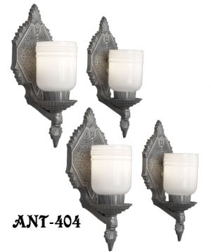 Set-of-Four-Matching-Arts-&-Crafts-Antique-Wall-Sconces-(ANT-404)
