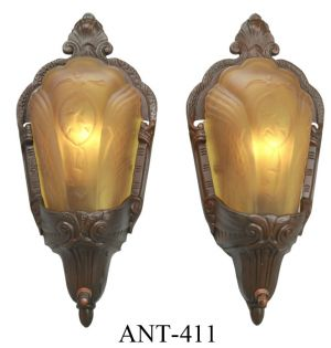 Art-Deco-Pair-of-Slip-Shade-Wall-Sconces-by-Electrolier-Circa-1934-(ANT-411)